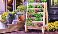 VERTICAL HERB / VEGGIE PLANTER LETS YOU GROW YEAR ROUND